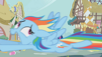 Rainbow Dash screaming for her life S1E10