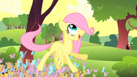 Young Fluttershy with butterflies S1E23