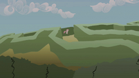 Pinkie Pie hopping through the maze S2E01