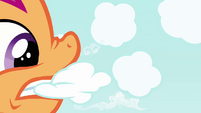 Scootaloo tearing clouds S2E17