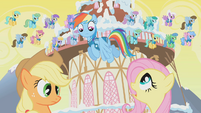 """Fluttershy to Rainbow Dash """"Stop!"""" S1E11"""