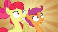 Scootaloo & Apple Bloom WHAT! S2E17