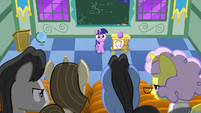 Examiners looking at filly Twilight S1E23