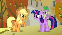Applejack talks to Twilight S1E13