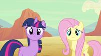 Twilight & Fluttershy cuteness S2E14