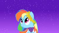 Rainbow Dash's part begins S1E26