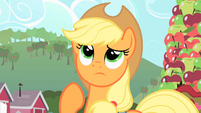 Applejack is thinking S1E25