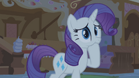 Rarity with hoof in mouth S1E09