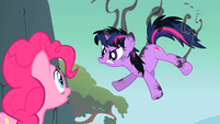 Singed Twilight Sparkle with Pinkie onlooking S1E15