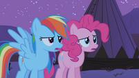 Pinkie Pie and Rainbow Dash huh S01E21