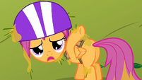 Scootaloo covered in tree sap S1E23