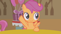"Scootaloo suggests ""the Cutie Mark Three"" S01E12"
