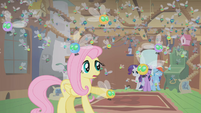 Fluttershy's cottage filled with parasprites S1E10