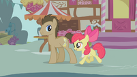 "Apple Bloom and Dr. Hooves ""Care to buy some apples?"" S1E12"