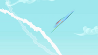 Rainbow Dash being flung S01E16