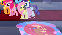 Fluttershy looking at the window's reflection S2E01