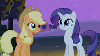 Applejack talking to Rarity S2E5
