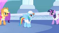 Rainbow Dash looks amazed S1E16