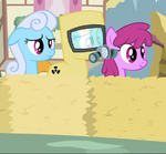 Shoeshine, Berryshine and a pony in a radiation suit 2 S2E6