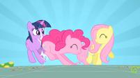 Pinkie Pie hitting Twilight S01E25