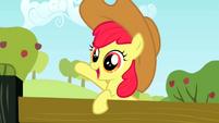 Apple Bloom wearing Applejack's hat 1 S2E14
