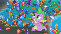 Spike scared of the big dragon S1E24
