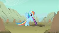 Rainbow Dash biting hold S1E19