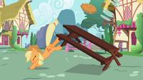 Applejack bucking the table S2E06