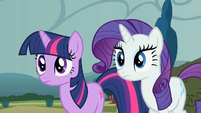 Twilight and Rarity before losing horns S2E1
