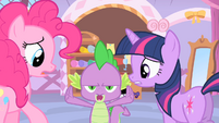 Spike stands up for Rarity S1E20