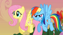 Happy Fluttershy and mad Rainbow Dash S2E15.png