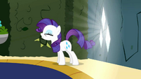 Rarity trying to resist gems S2E1