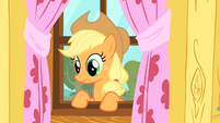 Applejack makes a face due to the CMC's poor performance S1E18