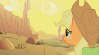 Applejack looks at the desert S1E21