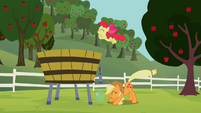Apple Bloom jumping into the vat S2E05