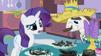 Rarity pushing plate S2E05