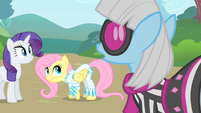 Photo Finish disproves of Fluttershy's outfit S1E20