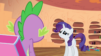 Rarity looking sad at Spike S2E10