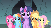Rainbow Dash & rest speechless S1E19