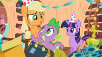 Spike Applejack best party ever S2E10
