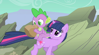 """Twilight Sparkle and Spike """"Can you breathe yet"""" S01E19"""