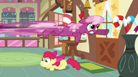 Cheerilee flying out the door S2E17