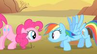 Pinkie Pie scares Rainbow Dash S1E21