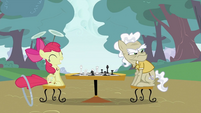 Apple Bloom with an elder pony S2E06