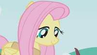 Fluttershy calmly looking at snakes S1E11