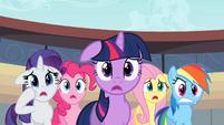Rarity, Pinkie, Twilight, Fluttershy, Rainbow - you kidding?.S02E14