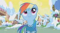 Rainbow Dash looking up S01E11