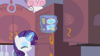 Rarity levitating a box S2E05