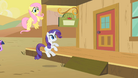 The door is slammed on Rarity and Fluttershy S1E21