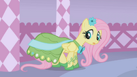 Fluttershy looks at her dress S1E14